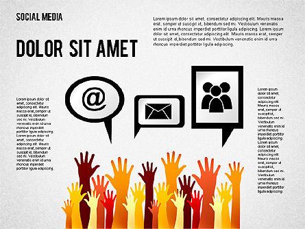 Social Media Presentation, Slide 4, 02292, Presentation Templates — PoweredTemplate.com