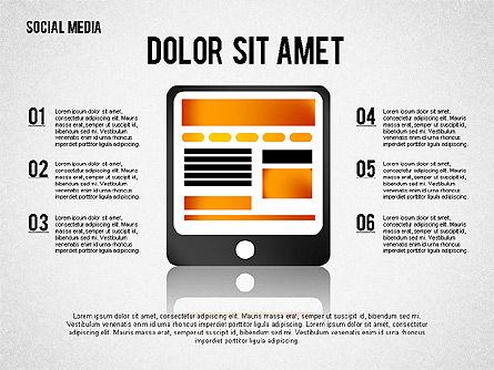 Social Media Presentation, Slide 5, 02292, Presentation Templates — PoweredTemplate.com