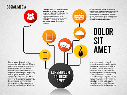 Social Media Presentation, Slide 6, 02292, Presentation Templates — PoweredTemplate.com