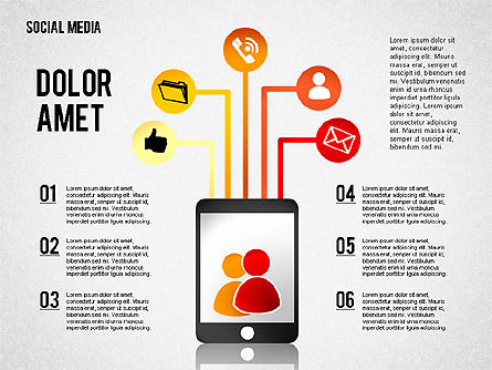 Social Media Presentation, Slide 8, 02292, Presentation Templates — PoweredTemplate.com