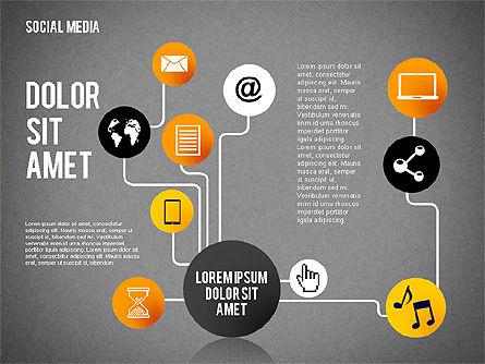 Social Media Presentation, Slide 9, 02292, Presentation Templates — PoweredTemplate.com