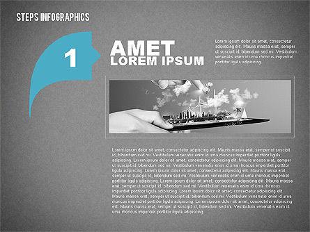 Steps Infographics Template, Slide 10, 02293, Infographics — PoweredTemplate.com