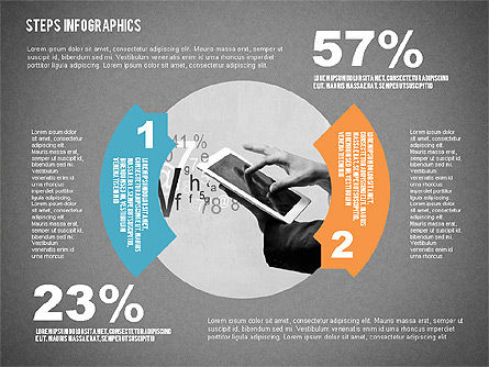 Steps Infographics Template, Slide 16, 02293, Infographics — PoweredTemplate.com