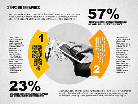 Steps Infographics Template, Slide 8, 02293, Infographics — PoweredTemplate.com
