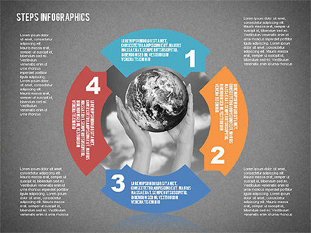 Steps Infographics Template, Slide 9, 02293, Infographics — PoweredTemplate.com