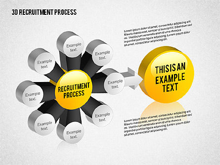 3D Recruitment Process Diagram, 02294, Process Diagrams — PoweredTemplate.com