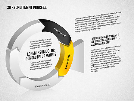 3D Recruitment Process Diagram, Slide 2, 02294, Process Diagrams — PoweredTemplate.com