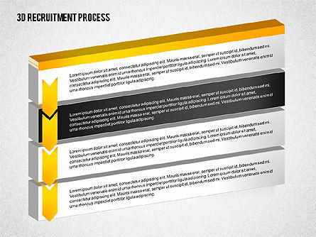 3D Recruitment Process Diagram, Slide 3, 02294, Process Diagrams — PoweredTemplate.com