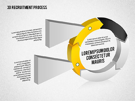 3D Recruitment Process Diagram, Slide 4, 02294, Process Diagrams — PoweredTemplate.com