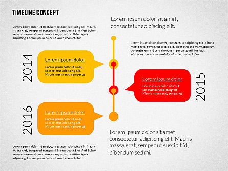 Timeline Diagrams Set in Flat Design Slide 3