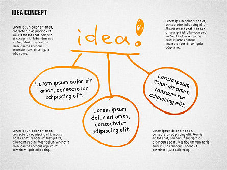 Idea Doodle Diagrams, 02296, Presentation Templates — PoweredTemplate.com