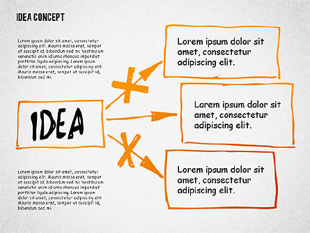 Idea Doodle Diagrams, Slide 4, 02296, Presentation Templates — PoweredTemplate.com