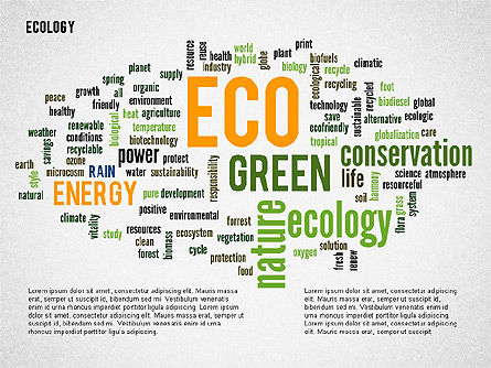 Presentation Templates: Ecology Word Cloud Presentation Template #02297
