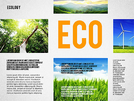 Ecology Word Cloud Presentation Template, Slide 2, 02297, Presentation Templates — PoweredTemplate.com