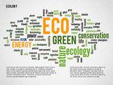 Presentation Templates: Modèle de présentation en nuage de mots écologiques #02297