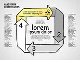 Process Diagrams: Process Diagrams in Hand Draw Style #02298