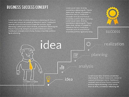 Business Success Concept Diagram, Slide 11, 02299, Presentation Templates — PoweredTemplate.com