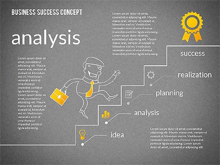 Business Success Concept Diagram, Slide 12, 02299, Presentation Templates — PoweredTemplate.com