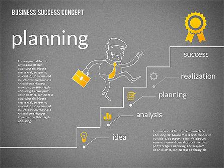 Business Success Concept Diagram, Slide 13, 02299, Presentation Templates — PoweredTemplate.com