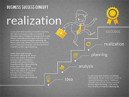 Business Success Concept Diagram, Slide 14, 02299, Presentation Templates — PoweredTemplate.com