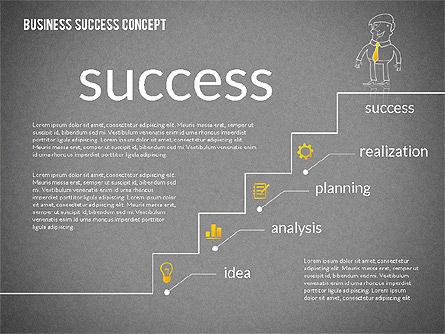 Business Success Concept Diagram, Slide 15, 02299, Presentation Templates — PoweredTemplate.com
