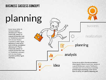 Business Success Concept Diagram, Slide 5, 02299, Presentation Templates — PoweredTemplate.com