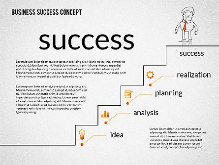 Business Success Concept Diagram, Slide 7, 02299, Presentation Templates — PoweredTemplate.com