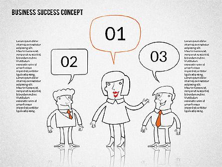 Business Success Concept Diagram, Slide 8, 02299, Presentation Templates — PoweredTemplate.com
