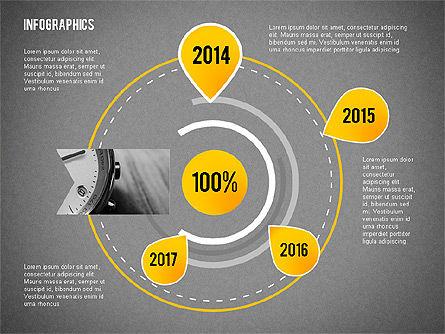 Business Presentation with Infographics, Slide 12, 02300, Presentation Templates — PoweredTemplate.com