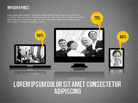Business Presentation with Infographics, Slide 13, 02300, Presentation Templates — PoweredTemplate.com