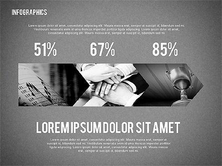Business Presentation with Infographics, Slide 14, 02300, Presentation Templates — PoweredTemplate.com