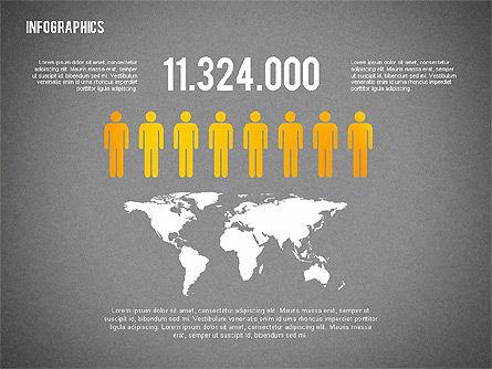 Business Presentation with Infographics, Slide 15, 02300, Presentation Templates — PoweredTemplate.com