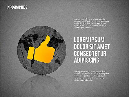 Business Presentation with Infographics, Slide 16, 02300, Presentation Templates — PoweredTemplate.com