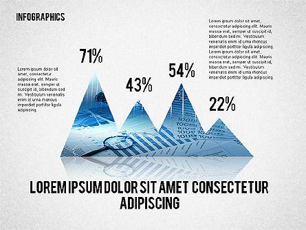 Business Presentation with Infographics, Slide 2, 02300, Presentation Templates — PoweredTemplate.com