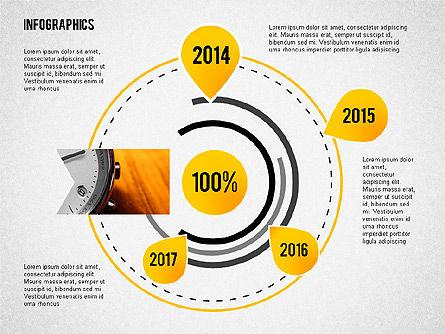 Business Presentation with Infographics, Slide 4, 02300, Presentation Templates — PoweredTemplate.com