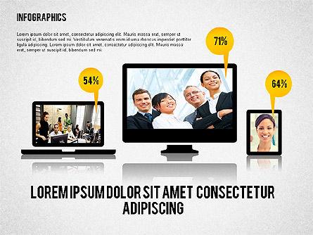 Business Presentation with Infographics, Slide 5, 02300, Presentation Templates — PoweredTemplate.com