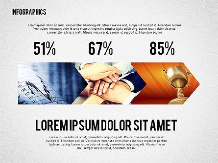 Business Presentation with Infographics, Slide 6, 02300, Presentation Templates — PoweredTemplate.com