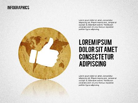 Business Presentation with Infographics, Slide 8, 02300, Presentation Templates — PoweredTemplate.com