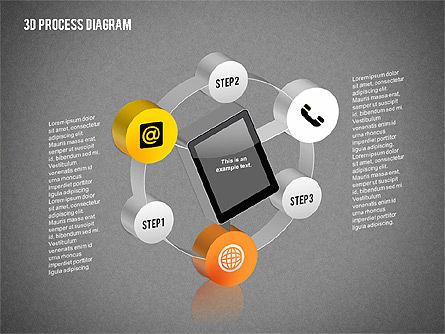 Process Diagram in 3D, Slide 11, 02302, Process Diagrams — PoweredTemplate.com