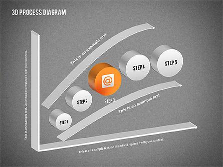 Process Diagram in 3D, Slide 12, 02302, Process Diagrams — PoweredTemplate.com