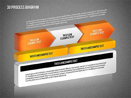 Process Diagram in 3D, Slide 13, 02302, Process Diagrams — PoweredTemplate.com