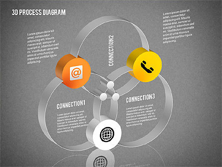 Process Diagram in 3D, Slide 14, 02302, Process Diagrams — PoweredTemplate.com