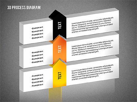 Process Diagram in 3D, Slide 16, 02302, Process Diagrams — PoweredTemplate.com