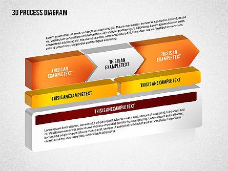 Process Diagram in 3D, Slide 5, 02302, Process Diagrams — PoweredTemplate.com
