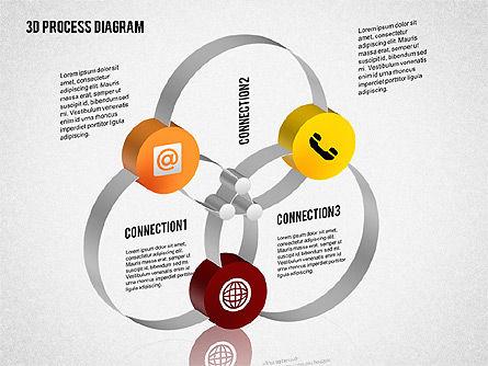 Process Diagram in 3D, Slide 6, 02302, Process Diagrams — PoweredTemplate.com
