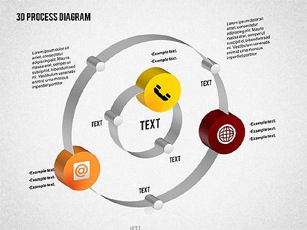Process Diagram in 3D, Slide 7, 02302, Process Diagrams — PoweredTemplate.com
