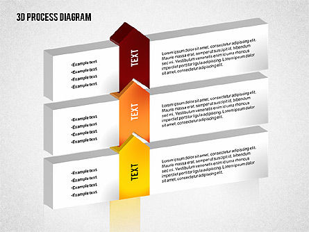 Process Diagram in 3D, Slide 8, 02302, Process Diagrams — PoweredTemplate.com