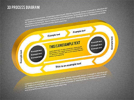 Process Diagram in 3D, Slide 9, 02302, Process Diagrams — PoweredTemplate.com