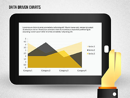 Touchpad Data Driven Diagram, 02304, Data Driven Diagrams and Charts — PoweredTemplate.com
