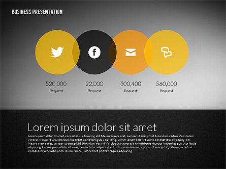 Business Presentation in Modern Flat Style, Slide 10, 02305, Presentation Templates — PoweredTemplate.com